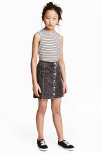 A-line skirt - Dark grey washed out -  | H&M CN 1