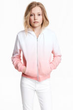 Hooded jacket - White/Pink - Kids | H&M 1