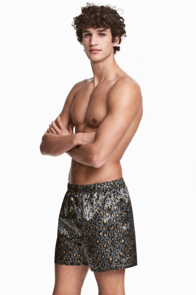 2-pack boxer shorts - Black/Leopard print - Men | H&M CN 1