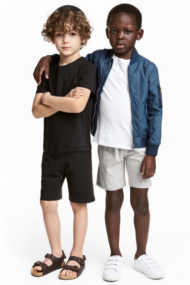 2-pack jersey shorts - Grey marl - Kids | H&M 1