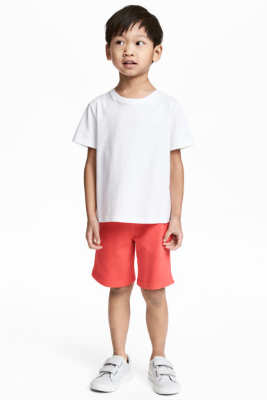 Sweatshirt shorts - Coral red - Kids | H&M