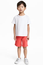 Sweatshirt shorts - Coral red - Kids | H&M 1