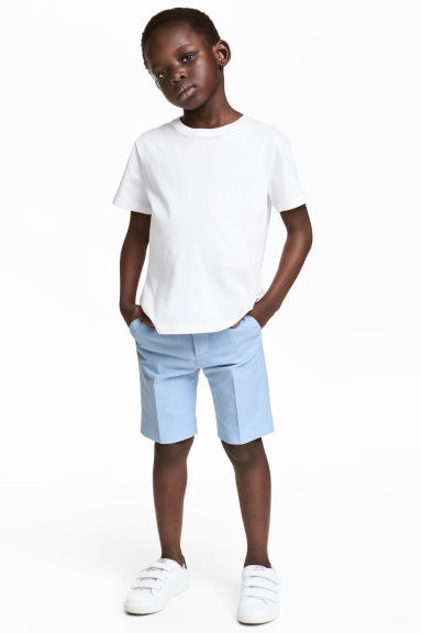 Oxford shorts - Light blue - Kids | H&M CN 1