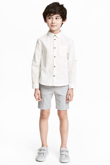 Oxford shorts - Light grey - Kids | H&M 1