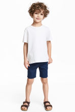 Shorts with a belt - Dark blue - Kids | H&M 1