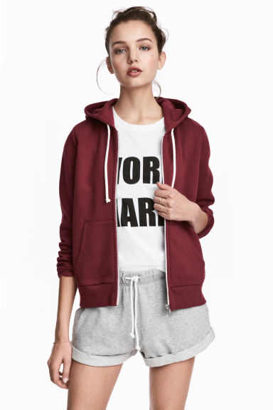 Hooded jacket - Burgundy - Ladies | H&M
