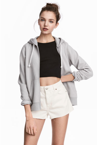 Hooded jacket - Grey - Ladies | H&M CN 1