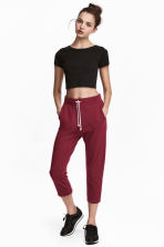Cropped sweatpants - Burgundy - Ladies | H&M CN 1
