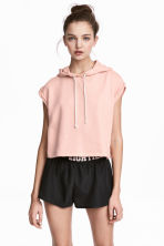 Sleeveless hooded top - Powder pink - Ladies | H&M 1