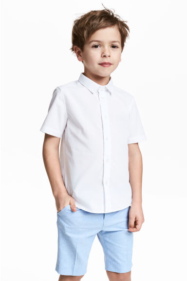 Short-sleeved shirt - White -  | H&M