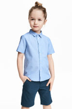 Short-sleeved shirt - Light blue -  | H&M CN 1