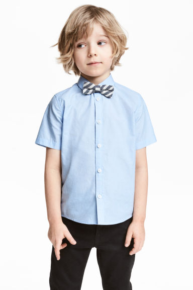 Shirt with tie/bow tie - Light blue - Kids | H&M