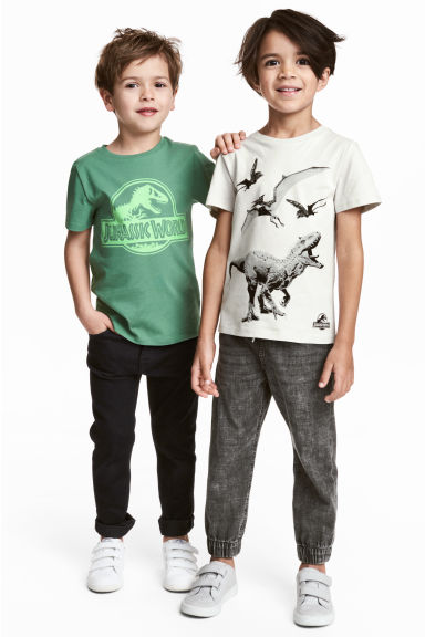 2-pack T-shirts - Green/Jurassic World - Kids | H&M 1