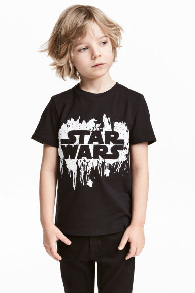 圖案T恤 - Black/Star Wars -  | H&M 1
