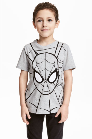 Printed T-shirt - Grey/Spiderman -  | H&M CN 1
