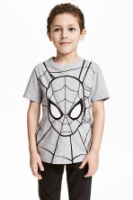 圖案T恤 - Grey/Spiderman -  | H&M 1