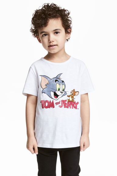 圖案T恤 - White/Tom and Jerry - Kids | H&M 1