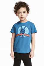 Printed T-shirt - Blue/Looney Tunes - Kids | H&M 1