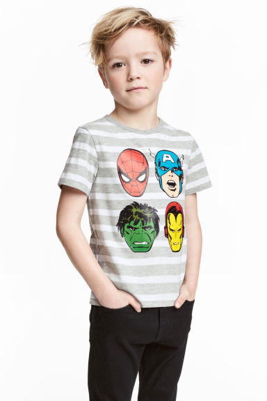 Printed T-shirt - Grey/Marvel Comics - Kids | H&M 1