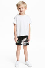 Sweatshirt shorts - Black/Jurassic World - Kids | H&M 1