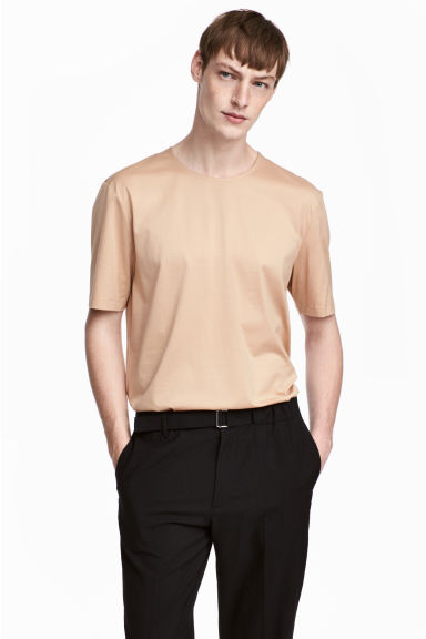 T-shirt in cotone pima - Beige - UOMO | H&M IT