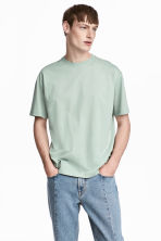 Mercerised cotton T-shirt - Dusky green - Men | H&M CN 1