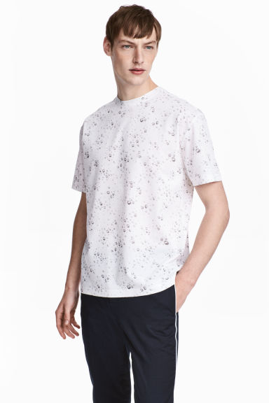 Patterned T-shirt - White/Patterned - Men | H&M CN
