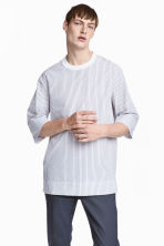 Cotton-weave T-shirt - White/Striped - Men | H&M CN 1