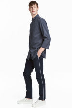 Pantaloni completo Slim fit - Blu scuro - UOMO | H&M IT 1