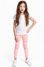 Treggings with sequins - Pink - Kids | H&M CN 1