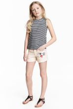 Twill shorts - Light beige - Kids | H&M 1