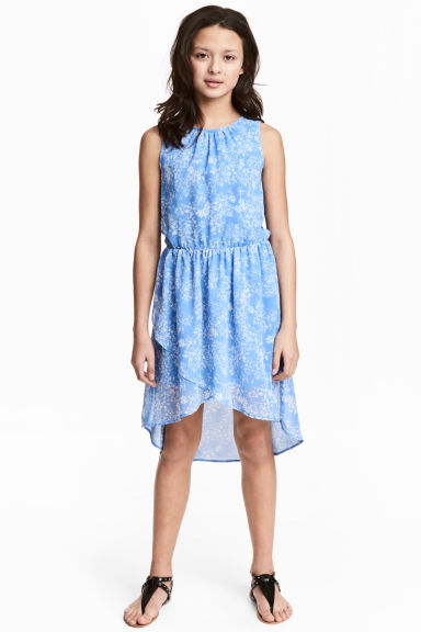 Chiffon dress - Blue/Floral -  | H&M CN