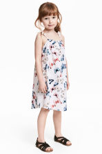 Seersucker dress - White/Butterflies -  | H&M 1