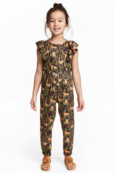 Patterned jumpsuit - Dark brown -  | H&M 1