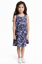 Jersey dress - Dark blue/Floral -  | H&M CN 1