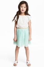 Tulle skirt - Mint green -  | H&M 1