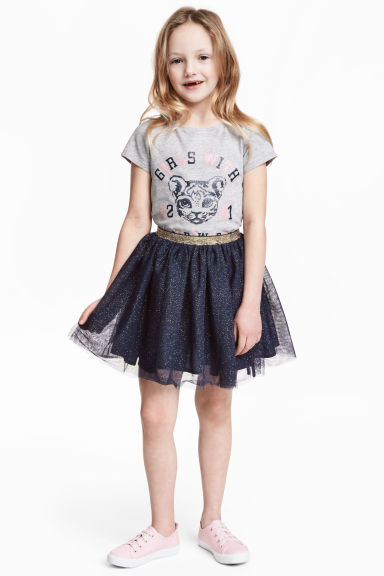 Gonna in tulle - Blu scuro - BAMBINO | H&M IT