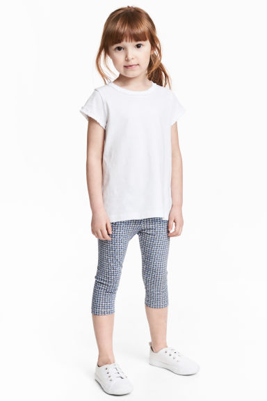 Jersey leggings - Blue/White -  | H&M