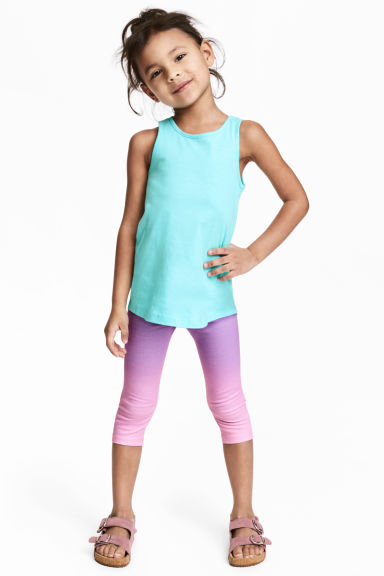 Jersey leggings - Turquoise/Purple -  | H&M 1