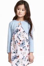 Fine-knit bolero cardigan - Light blue - Kids | H&M CN 1