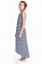 Jersey dress - Dark blue/Striped - Kids | H&M 1