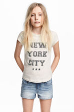 Top en jersey avec impression - Beige clair/New York - ENFANT | H&M FR 1
