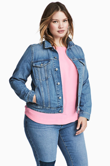 H&M+ Denim jacket - Denim blue - Ladies | H&M GB