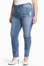 H&M+ Slim High Ankle Jeans - Denim blue/Washed - Ladies | H&M CN 1