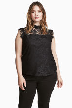 H&M+ Lace top - Black - Ladies | H&M 1