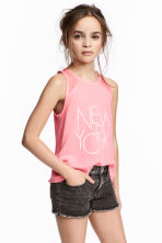 Printed vest top - Pink/New York -  | H&M 1