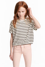Wide top - White/Black striped -  | H&M CN 1