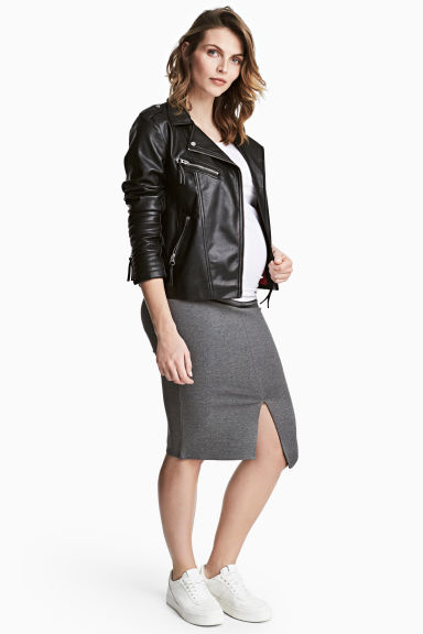 MAMA Pencil skirt - Dark grey marl - Ladies | H&M GB