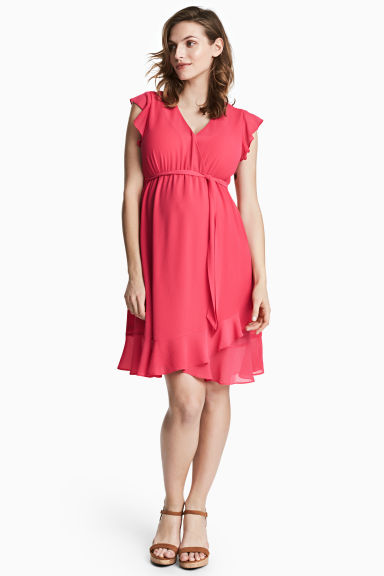 MAMA Flounced dress - Cerise -  | H&M