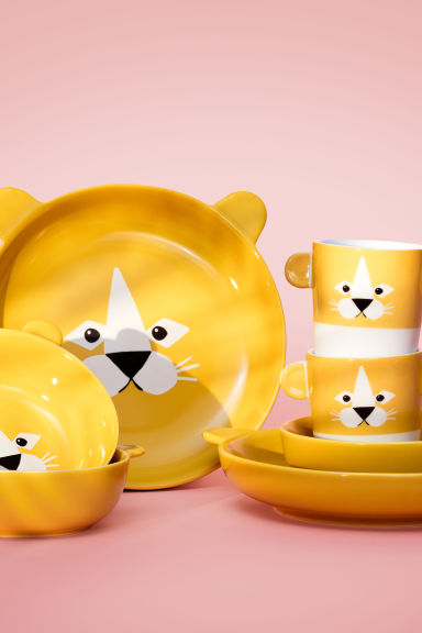 Tazza con animaletto - Giallo/leone - HOME | H&M IT 1